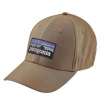 Patagonia P-6 Logo Stretch Fit Hat Ash Tan