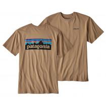 Patagonia M P-6 Logo Cotton T-Shirt Mojave Khaki