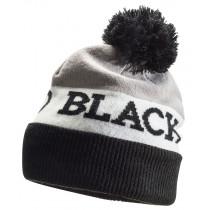 Black Diamond Tom Pom Beanie Black - White - Nickel