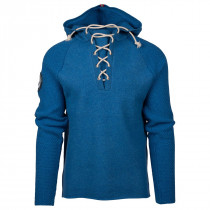 Amundsen Sports Boiled Hoodie Laced Women's Battered Blue