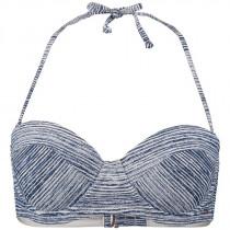 O'Neill Women's Print Balconette Bikini Top Blue Aop