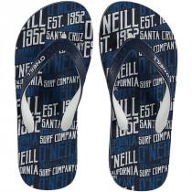 O'Neill Profile Pattern Flip Flop Blue Aop w/blue