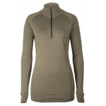 Brynje Lady Zip Polo 3/4 Neck W/Thumbgrip Olivegreen