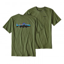 Patagonia Men's Fitz Roy Trout Cotton T-Shirt Buffalo Green