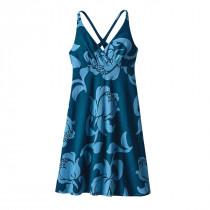 Patagonia Womens Amber Dawn Dress Exotic Floral: Big Sur Blue
