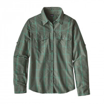 Patagonia Womens L/S Overcast Shirt Headwaters: Hemlock Green