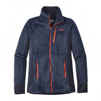 Patagonia M R2 Jkt Navy Blue W/Paintbrush Red