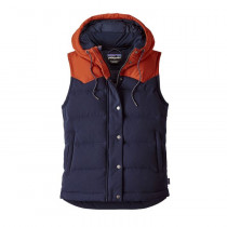 Patagonia W Bivy Hooded Vest Navy Blue
