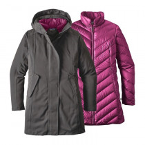 Patagonia W Tres 3-In-1 Parka Forge Grey W/Magenta