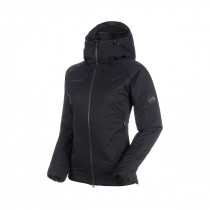 Mammut Rime In Flex Hooded Jacket Women Black-Phantom