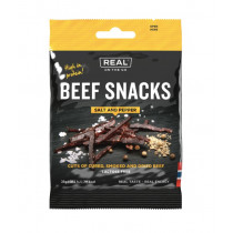 Real Turmat Beef Snacks Salt Og Pepper 25 gram