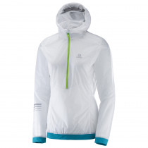 Salomon Lightning Wind Anorak Women's White/Enamel Blue