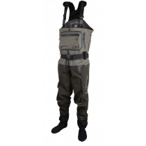 Scierra X-Tech 20000 Chest Wader Stocking Foot Khaki/Dark Brown