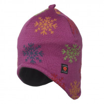 Isbjörn Of Sweden Snowflake Knitted Ear Cap Acrylic/Wool Smoothie