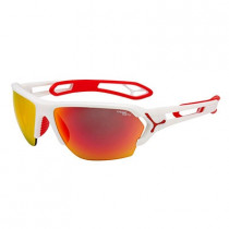 Cebe S`Track Large Matt White Red, 1500 Plz Orange+Clear Lens Hvit