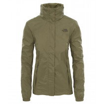 The North Face W Resolve 2 Jkt Burnt Olive Green