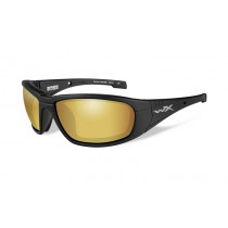 Wiley X BOSS Polarized Venice Gold Mirror, Matte Black Frame