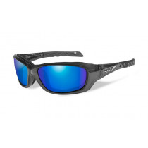 Wiley X GRAVITY Polarized Blue Mirror Green, Black Crystal Frame