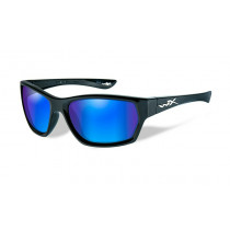 Wiley X MOXY Polarized Blue Mirror Green, Gloss Black Frame