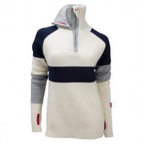 Ulvang Rav Limited Sweater W/Zip Women`s Vanilla/New Navy/Grey Melange