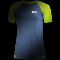 Gore R5 Women Shirt Deep Water Blue/Citrus Green