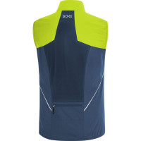 Gore R7 Partial Gore-Tex Infinium™ Vest Deep Water Blue/Citrus Green