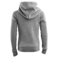 Aclima FleeceWool Hoodie Junior Grey Melange/ Chili Pepper