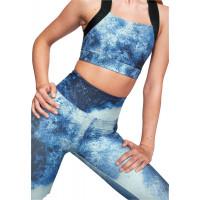 Röhnisch Kay Printed Sports Bra Blue Space Dyed