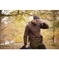 Pajala skjorte Mellow brown check Jakt | Härkila