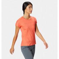 Mountain Hardwear W Mighty Stripe Short Sleeve T Solstice Red