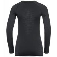 Odlo Bl Top Crew Neck L/S Performance Warm Ec W's Black - New Odlo Graphite Grey