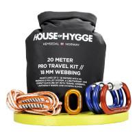 House Of Hygge, 20 meter Pro Slakkline® Travel Sett