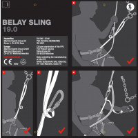 Mammut Belay Sling 19.0 Red-White 65 cm