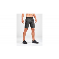 2XU Accel Print Comp Shorts Men Asphalt Charcoal/Nero