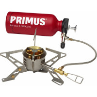 Primus OmniFuel II with fuel bottle and pouch
