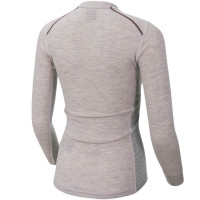 Ulvang Rav 100% Round Neck Ws Sweet Pink/Grey Melange/Fig