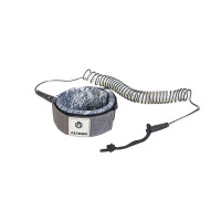 Aztron 8' Basic Coil Leash Grey