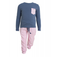 Tufte Wear Kids Pyjamas Set Vintage Indigo / Mauve Chalk