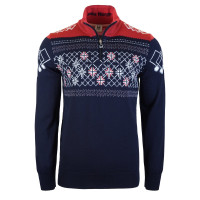 Dale of Norway Podium Masculine Sweater Navy/Raspberry/Off White