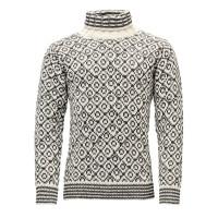 Devold Svalbard Sweater High Neck Offwhite/Anth.