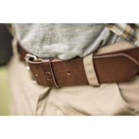 Fjällräven Singi Belt 4 Cm. Leather Cognac