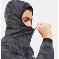 The North Face Men Varuna Windshirt Asphalt Grey Grunge Print