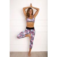 Panos Emporio Prespa Yoga Sports Bra Pink Dawn