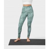 Manduka High Rise Performance Legging Camo Tie Dye Greens