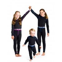 Matso Marie Wool Set Underwear Charcoal Gray/Pink