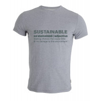 Tufte Wear Mens Print Tee - Sustainabili-Tee Light Grey Melange / Garden Topiary