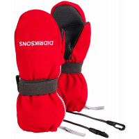 Didriksons Biggles Kid's Zip Mittens 3 Chili Red