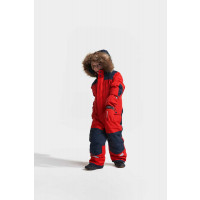Didriksons Björnen Kid's Coverall 3 Chili Red