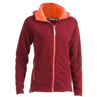Felines W's Fleece Afternoon Hoodie 1/1 Zipper Tawny Port/Peach Eco