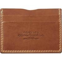 Fjällräven Övik Card Holder Leather Cognac